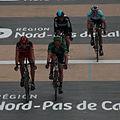 2012 Paris-Roubaix, Ballan, Turgot, Flecha, Terpstra just after line (7058874629).jpg