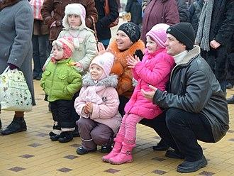 Donetsk Oblast - Young family in Donetsk