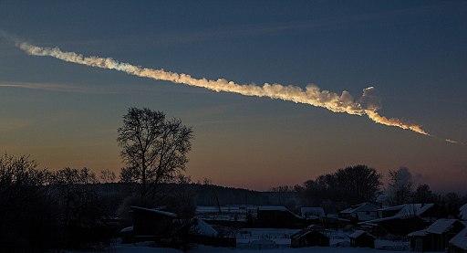 2013 Chelyabinsk meteor trace