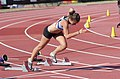 2013 IPC Athletics World Championships - 26072013 - Tereza Jakschova of Czech Republic preparing for the Women's 100m - T46 second semifinal.jpg