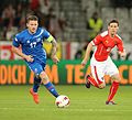 2014-05-30 Austria - Iceland football match, Aron Gunnarsson 0742-crop.jpg