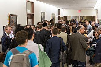 Elections in New York (state) - A 2014 Brooklyn Democratic Party meeting