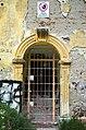 2014 giu Villa Pellegrini Marioni Pullè, Chievo, Verona, photo Paolo Villa Lodge, facade, Doric - Tuscan order, pilaster strip, keystone volute-shaped, plaster fell FOTO6337bis.jpg