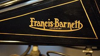 Francis-Barnett - Image: 2015 03 07 Thinktank Sasha Taylor 328