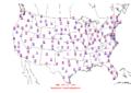 2015-10-26 Max-min Temperature Map NOAA.png