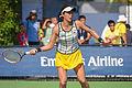 2015 US Open Tennis - Qualies - Misa Eguchi (JPN) def. Julie Coin (FRA) (20763822050).jpg