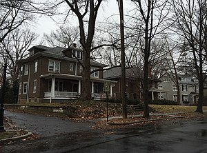 Cadwalader Heights, Trenton, New Jersey - Homes along Belmont Circle in Cadwalader Heights