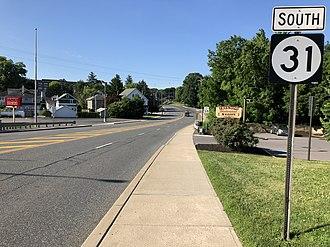 Washington, New Jersey - View south along Route 31 in Washington