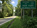 """2018-07-26 14 46 53 """"Welcome to New York"""" sign along eastbound New York State Route 94 just after entering Warwick, Orange County, New York from Vernon Township, Sussex County, New Jersey.jpg"""