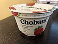 2019-01-31 21 30 10 The side of a cup of Chobani Greek Yogurt with Strawberry on the Bottom before being opened in the Franklin Farm section of Oak Hill, Fairfax County, Virginia.jpg