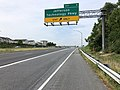 2019-08-05 11 01 59 View south along U.S. Route 15 and west along U.S. Route 340 (Jefferson National Pike) at Exit 9 (Jefferson Technology Parkway) in Ballenger Creek, Frederick County, Maryland.jpg