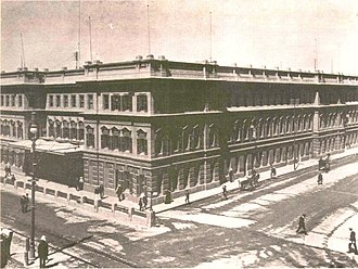 Cape Town railway station - Cape Town's second station. circa 1900.