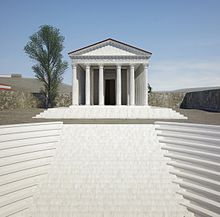 3D reconstruction of the 'theatre-temple' at Pessinus.