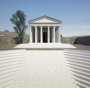 Pessinus - Image: 3D reconstruction temple Pessinus Angelo Verlinde