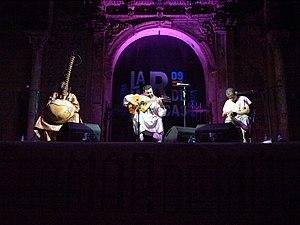 Ballaké Sissoko - Sissoko (left) during a concert in Cartagena, Spain.