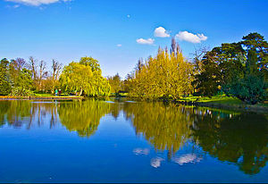 Parks and open spaces in London - The lake in Beddington Park in the London Borough of Sutton in southwest London