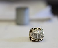 The 49ers ring for Super Bowl XXIX