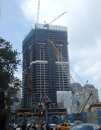 4 World Trade Center - Image: 4 WTC construction Aug 2011