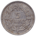 5 francs Lavrillier revers.png