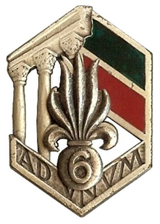 1st Foreign Engineer Regiment - Image: 6° régiment étranger d'infanterie