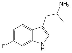 6-Fluoro-AMT - Image: 6 fluoro AMT structure
