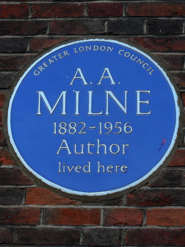 A. A. Milne blue plaque - A. A. Milne 1882-1956 author lived here
