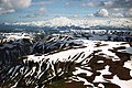 A056, Katmai National Park, Brooks Falls, Alaska, USA, mountains, 2002.jpg