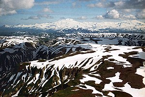Katmai National Park and Preserve - Fourpeaked Mountain and Mount Douglas
