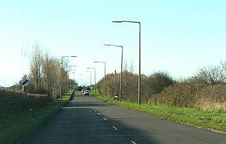 A4226 road - Image: A4226 Rhoose