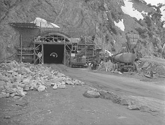 Angeles Crest Highway - Tunneling through San Gabriel Range for Angeles Crest Highway, 1949
