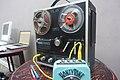 AKAI 1721L (1972) reel-to-reel tape recorder with Danelectro HoneyTone N-10 mini amp - School of Noise, 2015-03-28 14.58.39 (by Steve Bowbrick).jpg