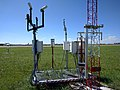 AWOS (Automated Weather Observation System) at midfield location of Ezeiza airport - panoramio.jpg