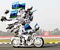 A Dare Devils motorcycle display during the General Officer Commanding-in-Chief of Western Command Parade & Investiture Ceremony, in New Delhi on January 13, 2011.jpg