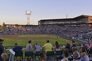 Tacoma Rainiers - A packed Cheney Stadium on July 3, 2015.