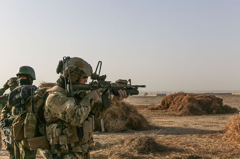 File:A U.S. Special Forces Soldier with Combined Joint Special Operations Task Force-Afghanistan scans the area as he and Afghan National Army commandos with the 3rd Company, 3rd Special Operations Kandak move 140101-A-LW390-132.jpg