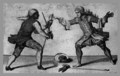 "A black fencer making a ""disarm in cart.png"
