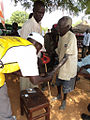 A blind voter at the southern Sudan referendum polling center.jpg