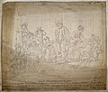 A caricature of a group of deaf people communicating through Wellcome V0016560.jpg