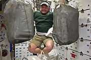 A delighted Mike Fincke STS-134