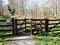 A gated entrance to Torphins Wood - geograph.org.uk - 773510.jpg