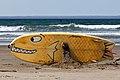 A surf board with bottom art, Morro Bay.jpeg