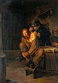 A surgeon operating on a man's shoulder. Oil painting after Wellcome V0017556.jpg