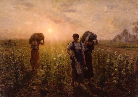 A travers champs, 1887,Brooklyn Muséum of Art