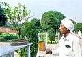 A visiting farmer checks a Bonsai Plant at Rashtrapati Bhawan in New Delhi on March 14, 2005.jpg