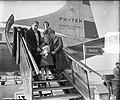 Aankomst filmsterretjes Brigitte Fossey en Georges Poujouly op Schiphol beiden…, Bestanddeelnr 905-5756.jpg