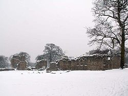 Basingwerk Abbey im Winter