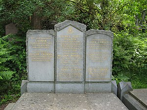 Elijah Cadman - The grave of Elijah Cadman in Abney Park Cemetery