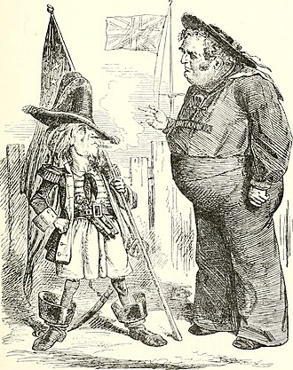 Diplomacy of the American Civil War - Punch magazine in London ridicules American aggressiveness in the Trent Affair, 7 December 1861.