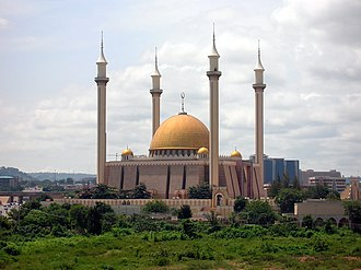 Islam in Nigeria - Abuja National Mosque, located in Abuja