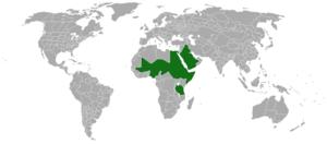 Senegalia laeta - Image: Acacia laeta range map